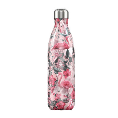 Bouteille Tropical Flamingo 750 ml, inox, isotherme