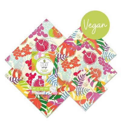5 imballaggi alimentari Tropical Collection in cera vegetale family pack
