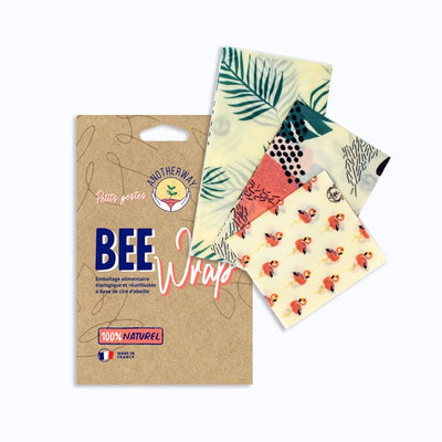 Bee Wrap 2 emballages réutilisables Monstera taille M