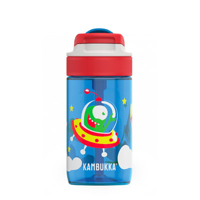 Borraccia Lagoon Happy Alien da 400 ml tritan senza BPA e anti perdita